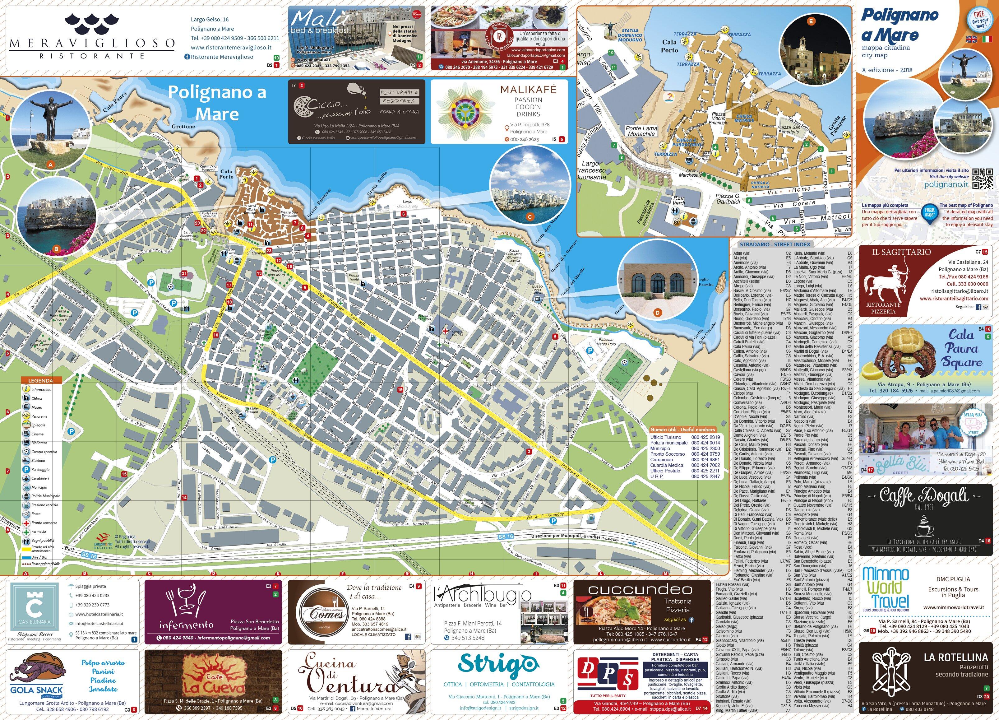 Cartina Di Malta Pdf.Mappa Di Polignano A Mare Cosa Vedere A Polignano A Mare Vacanze A Polignano A Mare