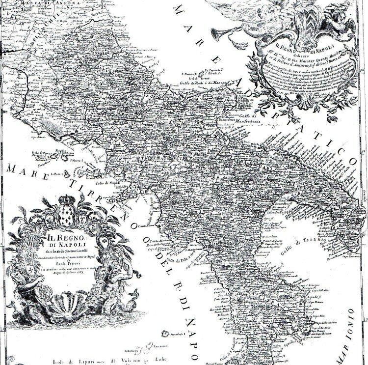 Cartina Italia Centrale E Meridionale.Cartina Geografica Dell Italia Meridionale Del 700 Cosa Vedere A Polignano A Mare Vacanze A Polignano A Mare